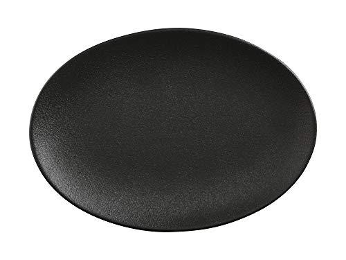 Maxwell Williams Plateau de service Motif moucheté Caviar, Porcelaine, Noir , 35 cm