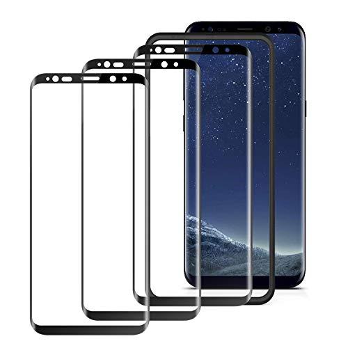 COKWEL [3 Pezzi Pellicola Protettiva Compatibile con Samsung Galaxy S8 Plus, Vetro temperato [Installazione Facile Cornice di allineamento] [Copertura Completa] [Senza Bolle]