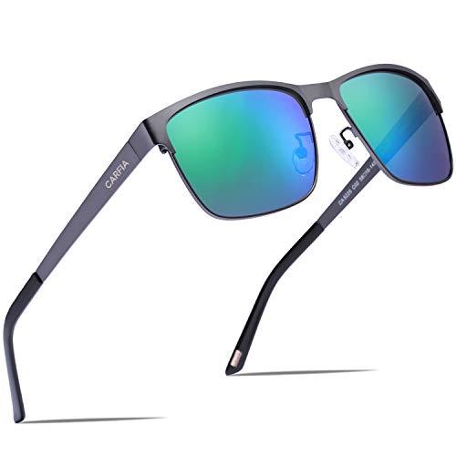 Carfia Gafas de Sol Polarizadas de Estilo Retro Metal de UV400 Protección...