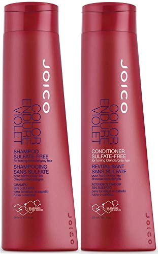 Joico Color Endure Violet Shampoo & Conditioner Set for Toning Blonde & Gray Hair, 10.1-Ounce