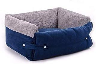 بيت دافئ للكلاب الصغيرة والمتوسطة والقطط متعدد الوظائف بتصميم أريكة وسرير ناعم مع بطانية