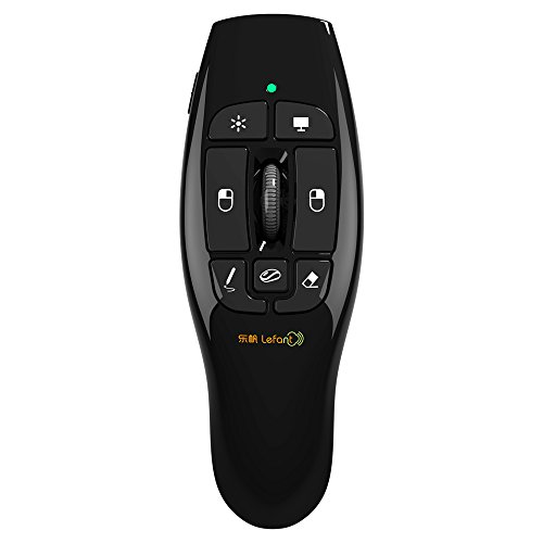 Lefant F8 Wireless Presenter with Red Laser Pointer 2.4GHz Remote USB Presentation Clicker with Scroll Wheel for PPT Keynote Presentation