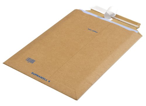 100 Versandtaschen Suprawell® SW40, Mikrowellpappe, Außenmaß: 250 x 353 mm, braun (3 V GmbH)