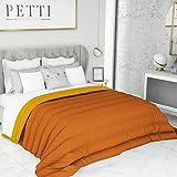 PETTI Artigiani Italiani Trapunta Una Piazza Letto Singolo 1P Invernale, Microfibra, Arancione/Giallo, Standard (150x260 cm)