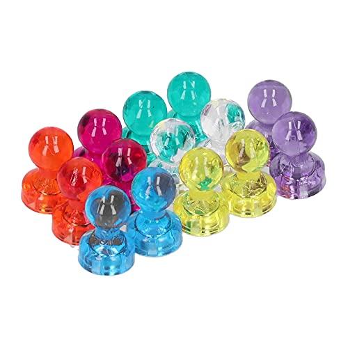 14 piezas de chincheta magnética, coloridos y potentes imanes de pasador de empuje, pizarra, clavo fijo para imanes de nevera