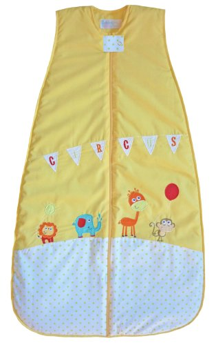 The Dream Bag CR182 Circus Unisex Baumwolle Baby Schlafsack, 18-36 Monate, 2.0 Tog, 110 cm, gelb