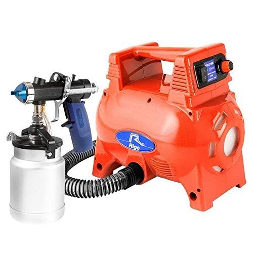 Turbina para pintar Rigo TMR80 roja 800W HVLP con pistola MRI AS