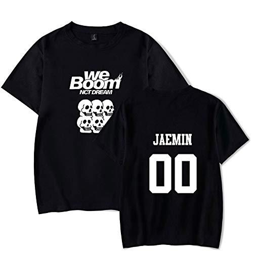 KPOP NCT Dream T-Shirt Estate We Boom Stampata Maglietta Casual a Manica Corta Shirt Puro Cotone Tondo Collare Tops Sciolto per i Fan Jisung Chenle Jeno HAECHAN Mark JAEMIN RENJUN