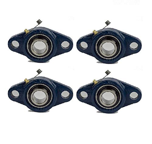 Jeremywell 4 Pieces- UCFL204-12 3/4 inch 2 Bolt Pillow Block Flange Bearing, Self-Alignment