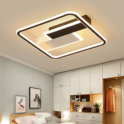 YEALEO Regulable Lámpara de Techo LED, Lámpara de Techo con Mando a Distancia, Sencilla Lámpara Rectangular para Salón, Dormitorio