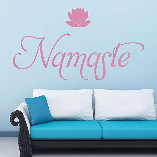 Tianpengyuanshuai yoga-muursticker, lotusmotief, als decoratie voor thuis, hal, slaapkamer, meisjes