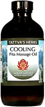 Pitta Balancing Massage Oil - Non GMO - Cooling and Soothing, Removing Tension, Irritation - Combines Cyperus, Rosa Centifolia, Geranium, Anantmul, Nutmeg and Palmarosa - 8 oz. from Tattva's