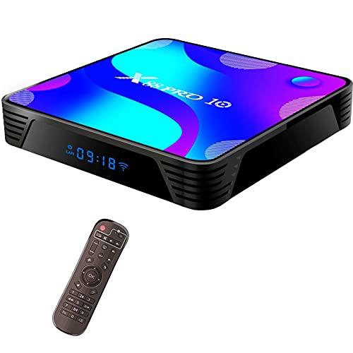 SSRSHDZW Caja de TV Android 10.0, VMade MAX Android TV Box, 2GB / 4GB RAM, cuádruple 64bits Brazo Cortex-A53 @ hasta 1,5 GHz Admite 2.4G 5G Dual WiFi / 4K / BT 5.0 / 3D / USB 2.0,2g+128g