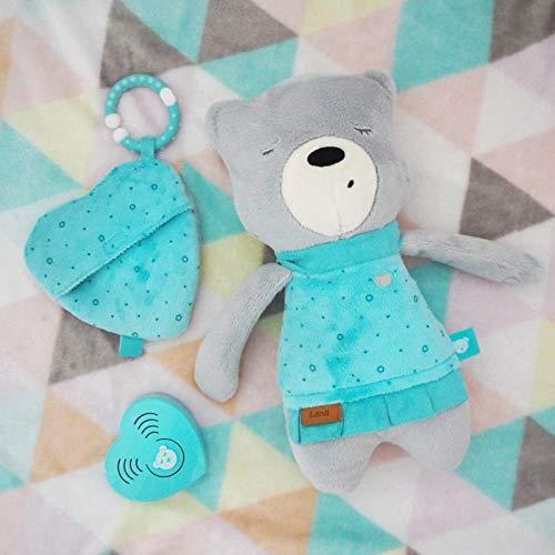 Szumisie Lena White Noise Spielzeug mit Cry Sensor & Non-Stop-System, ab Geburt geeignet, mit kostenlosen Beißring und Plüsch Tasche, 36cm hoch