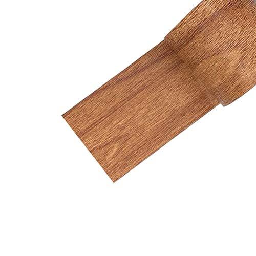 Wopohy Papel pintado autoadhesivo extraíble de 4,5 m, rollo de película de vinilo impermeable de madera texturizada para encimeras de cocina, puerta de mesa de roble marrón