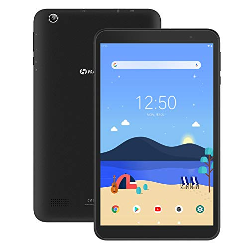 Tablet 8-Inch Android 9.0 32GB – HAOQIN H8 Pro 2GB RAM Quad-Core CPU HD IPS Display Dual Cameras Support Bluetooth WiFi Google Certified (Black)