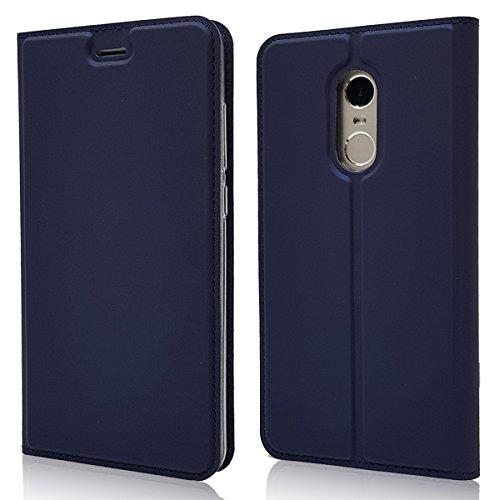 Funda Xiaomi Redmi Note 4X,Copmob Slim Estilo Billetera Carcasa,Carcasa PU Leather Con TPU Silicona Case Interna Suave [Función de Soporte] [Ranuras para Tarjetas y Billetera] [Cierre Magnético]-Azul