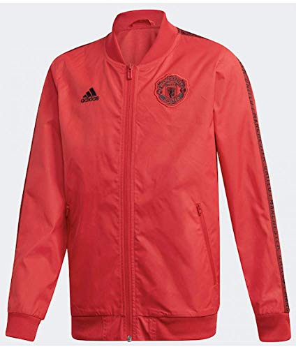 adidas Kinder Manchester United Anthem Jacke, Real Red/Black, Size: 152