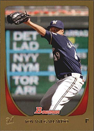 Baseball MLB 2011 Bowman Gold #144 Yovani Gallardo NM Near Mint Brewers