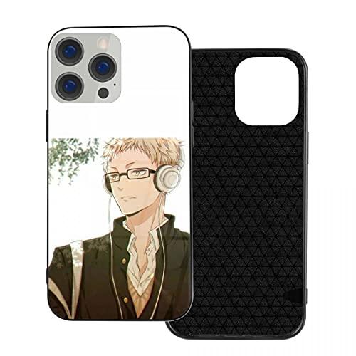 Cantoma Haikyuu Kei Anime iPhone 12 - Carcasa de cristal para IP12mini-5.4, funda de teléfono con tema de manga suave para mujeres, a los estudiantes les gusta la moda de dibujos animados
