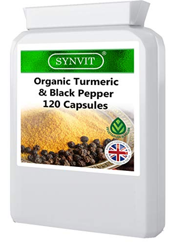Organic Turmeric and Black Pepper 120 Capsules