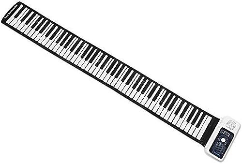 SHOUBANKS Hand Rolle Elektronisches Klavier 88 Schlüssel Silikon Tastatur 66-Taste Hand Rolle Tastatur Hand Rolle Klavier Mit Lauter Lautsprecher Batterie ODER USB Powerot (Farbe   61 keys Weiß)
