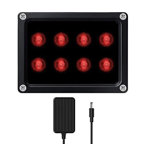 IR Illuminator, 8-LED Long Range Outdoor Use Infrared Light...