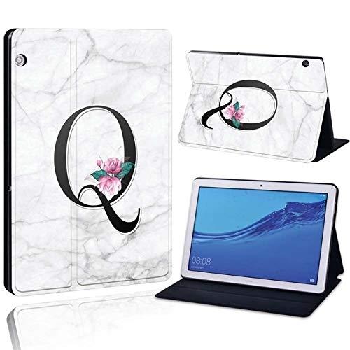 QiuKui Tab Funda para Huawei MediaPad T3 8.0 / T5 10 10.1 / T3 10 9,6, Impreso 26 Cartas de Cuero de la PU Tableta representan a Prueba de Golpes Caso de la Cubierta para Huawei MediaPad T3 T5