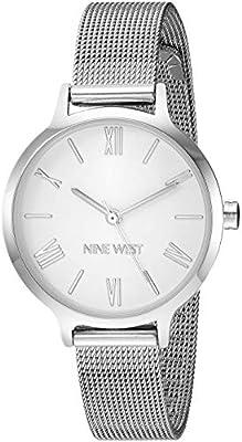 Nine West Women's NW/2229SVSV Silver-Tone Mesh Bracelet Watch