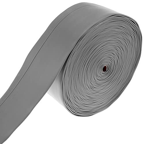 PrimeMatik - Plinthe Flexible autocollante 70 x 20 mm. Longueur 15 m Gris