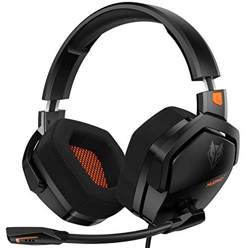 NUBWO Gaming Headset para PS4, Xbox One 1 PC con micrófono, cancelación de ruido sobre auriculares para ordenador portátil Nintendo Switch Juegos