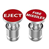 2 Pack Car Cigarette Lighter Replacement Set, MELIFE EJECT Button FIRE MISSILES Button 12V Accessory Push Button Fits Most Automotive Vehicles Red