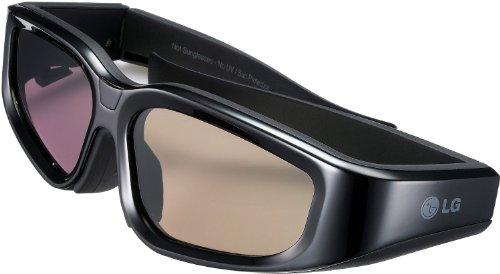LG AG-S110 3D Brille (40 Stunden Betriebsdauer, aufladbar über USB-Kabel) schwarz