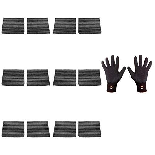 6 filtros interiores Febi Bilstein 34814 + 1 guantes de montaje de agarre fino, talla 9/L
