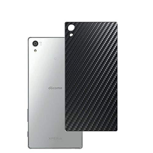 VacFun 2 Piezas Protector de pantalla Posterior, compatible con Sony Xperia Z5 Premium SO-03H, Película de Trasera de Fibra de carbono negra