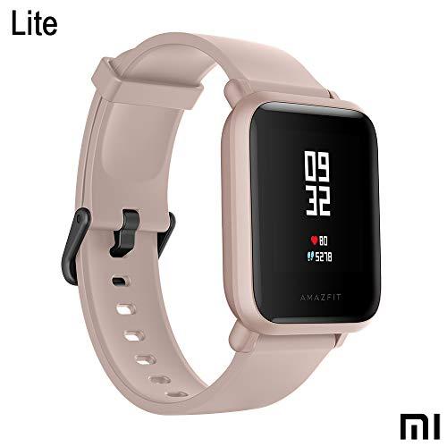 Xiaomi Amazfit Bip Lite SmartWatch Monitor de Actividad Fitness Resistente al Agua 30 Metros Pulsómetro Modos Deportivos iOS & Android (Versión Internacional - 45 días de Batería) Rosa