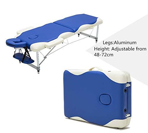 Lettino per lettini da Massaggio Portatile Lettino in Alluminio Lettino per Fisioterapia Deluxe Professionale Leggero a 2 sezioni Lettino per Lettino Beauty Spa