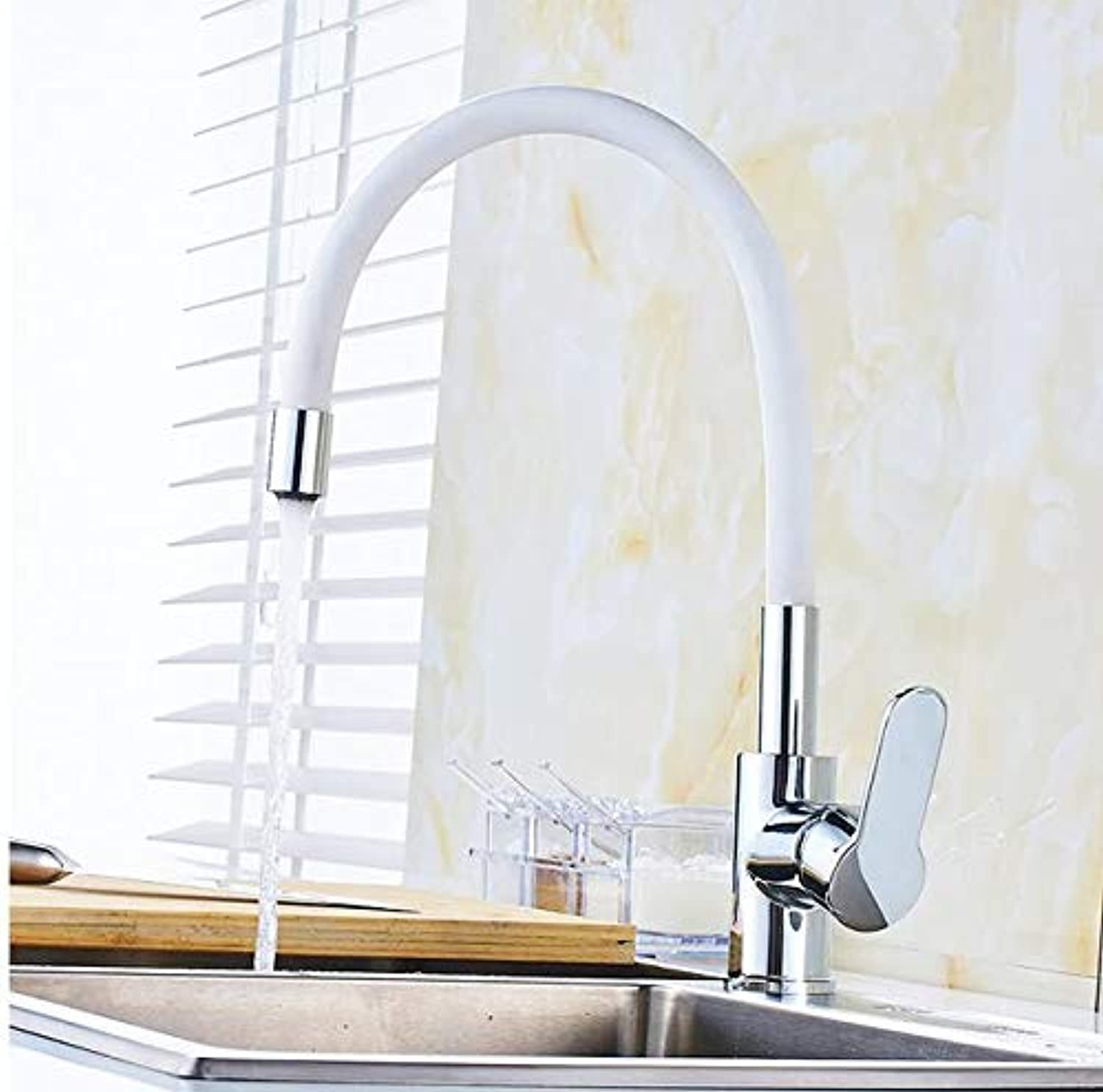 Makej Kitchen Faucet Silica Gel Nose Any Direction redating Tap Cold and Hot Water Mixer Single Handle Tap