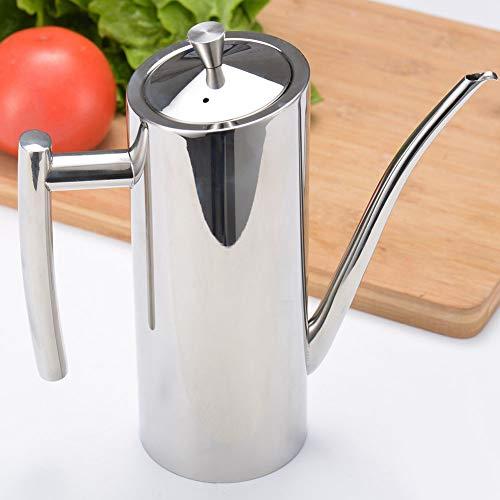 Huile de cuisine peut, 700 ml ménage en acier inoxydable huile de soja sauce pot récipient cuisine cuisine distributeur outil
