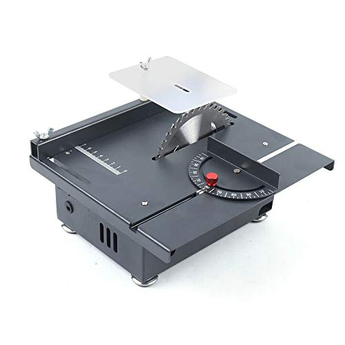 Table Saw, Mini Portable Table Saws 7200RPM Desktop Saw with Angle and length Scale Woodworking Handmade DIY Crafts Cutter Tool for Cutting Models, Solid Wood