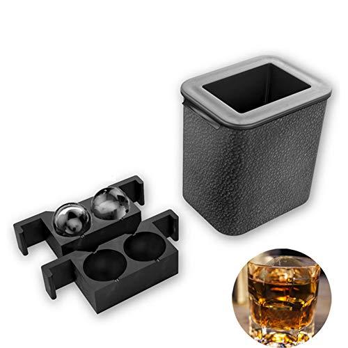 ZH1 Hockey sobre Hielo Transparente de Cristal, Hockey sobre Hielo Redondo Grande y Molde de Bandeja de Whisky, Silicona de Grado alimenticio, diseño no tóxico, Ambiental