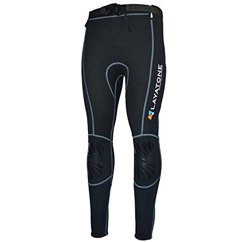 Fabricación de material de alta calidad: los pantalones de neopreno estaban hechos de neopreno muy elástico de 3 mm de grosor. Ajuste cómodo, ajuste cálido. Costura con ocho agujas de hilo negro, reduce la irritación de las costuras. Cuando lo uses, ...