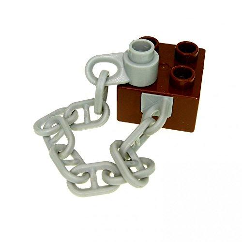 1 x Lego Duplo Anker Kette Reddish braun hell grau Stein 2 x 2 Boot Schiff Piratenschiff Ersatzteil 7881 7880 54980c01