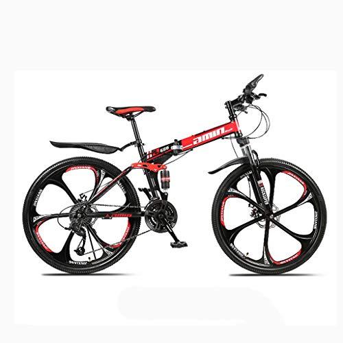 DY Bicicleta, con Suspensión De Aluminio Regulable, Cambio Velocidades Y Frenos De Disco