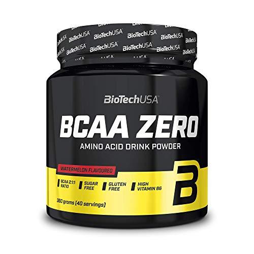 BioTechUSA BCAA Zero Zuckerfrei Aminosäuren Pulver mit Leucin, Isoleucin und Valin im Verhältnis 2:1:1, 360 g, Wassermelone