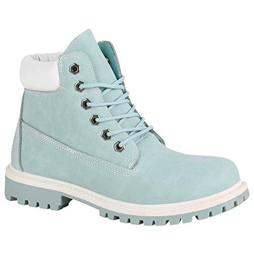 Stiefelparadies Modieus Dames Outdoor Laarzen Worker Laarzen Zool