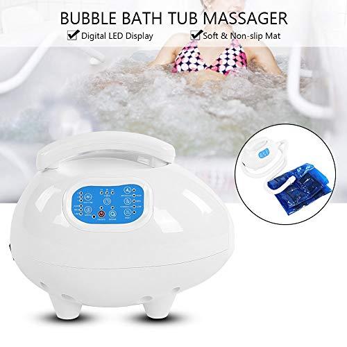 Jiawu Electric Bathtub Bubble Massage Mat, Waterproof Tub Massaging Spa, Portable Full Body Bubbling Bath Thermal Massager Machine with Air Hose, Motorized Air Pump(US)
