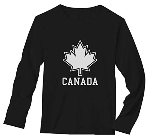 Canada Day Canada Maple Leaf Canadian Pride Patriotic Long Sleeve T-Shirt X-Large Black