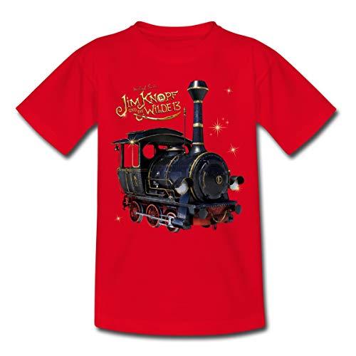 Spreadshirt Jim Knopf Und Die Wilde 13 Emma Kinder T-Shirt, 110-116, Rot