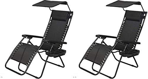 Garden Mile 2x Noir jardin soleil transat soleil Lit piscine inclinable Dossier inclinable pliante meubles de jardin siège jardin Chaise